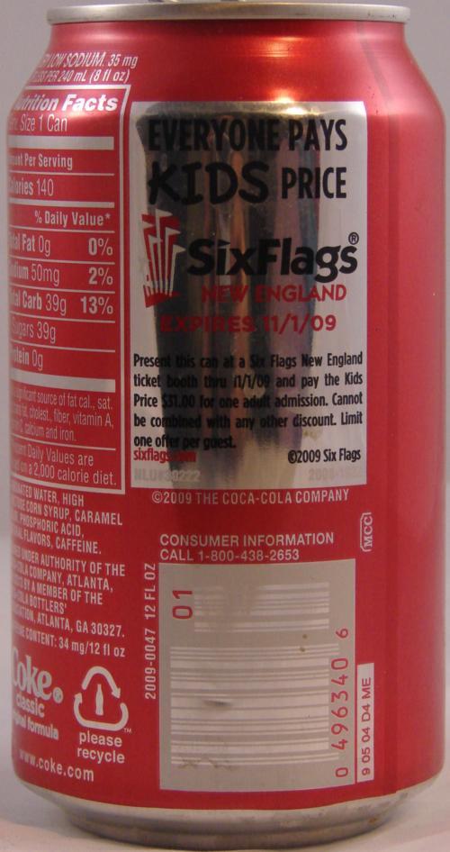 Sixflags com coke