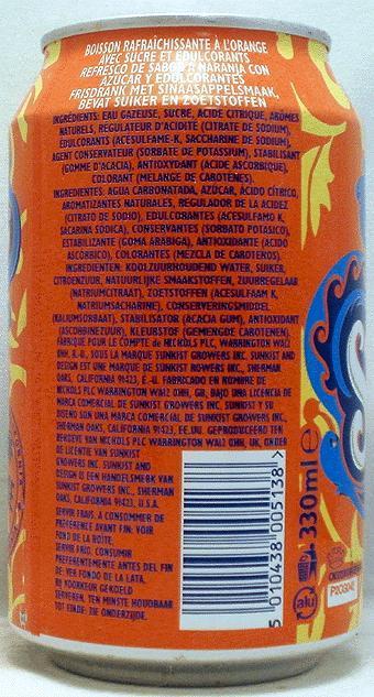 SUNKIST-Orange soda-330mL-International